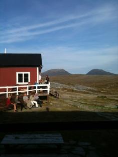 Utsikten från sovrummet på Blåhammarens fjällstation